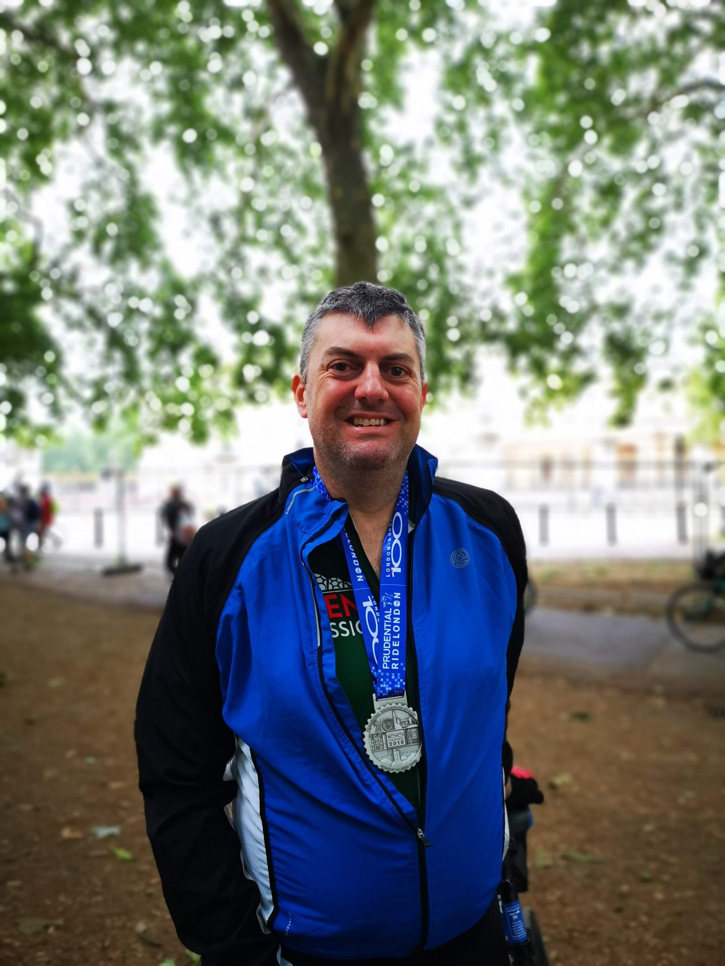 Jim with Medal 1440x1920 - Jim did it! RideLondon-Surrey for Naomi House & Jacksplace