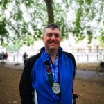 Jim with Medal 150x150 - Jim did it! RideLondon-Surrey for Naomi House & Jacksplace