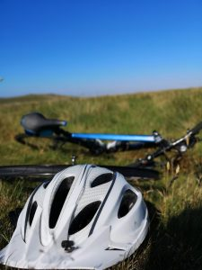 Jims Bike Puncture 225x300 - Making Jim aerodynamic for RideLondon-Surrey 100