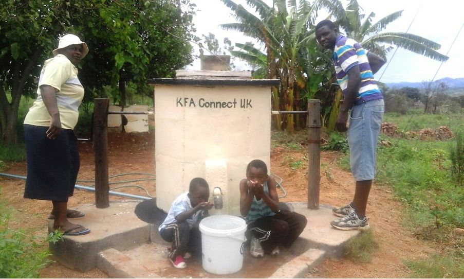KFA Connect Pump Dec 2016 - KFA Connect support the Africa Trust with Aquaid by sponsoring a new water pump in Africa.