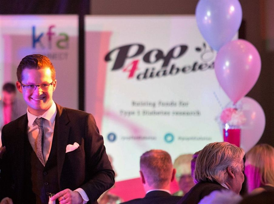 Pop 4 Diabetes Harry Reid Cropped - This October KFA were proud to sponsor the Pop 4 Diabetes 'Child of Courage' Awards.