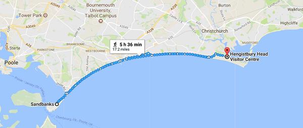 Walk for Wheels Map reaized - KFA Test Team - Beachfront Charity Walk for Friedreich's Ataxia